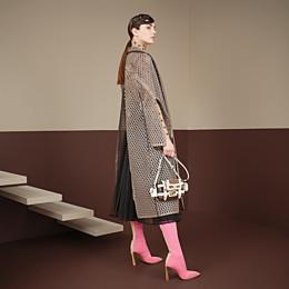 FENDI BAGUETTE MINI CAGE - Tasche aus Leder und Stoff Mehrfarbig - view 2 thumbnail