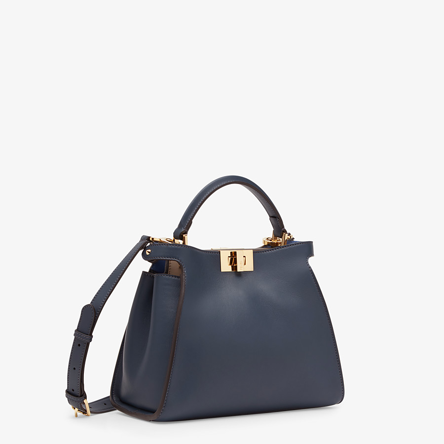 FENDI PEEKABOO ICONIC ESSENTIALLY - Blue leather bag - view 2 detail