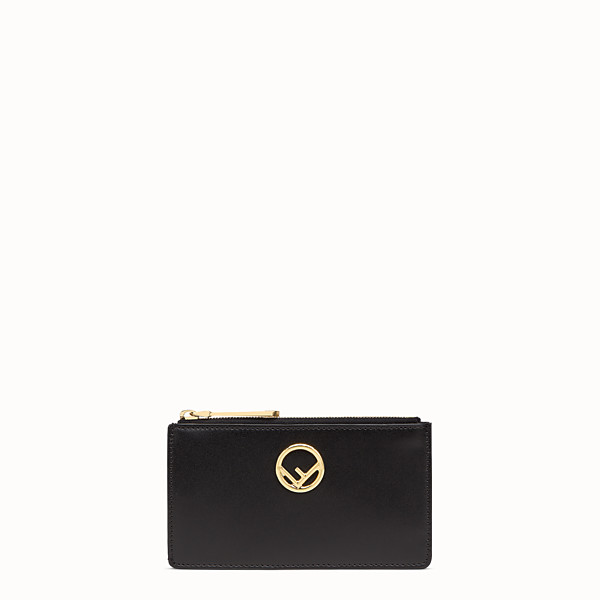 FENDI CARD POUCH - Black leather pouch - view 1 small thumbnail