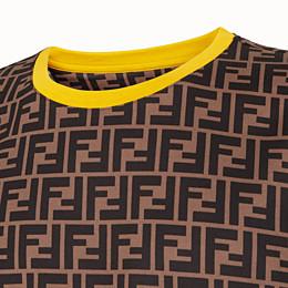 FENDI T-SHIRT - T-Shirt aus Baumwolle in Braun - view 3 thumbnail