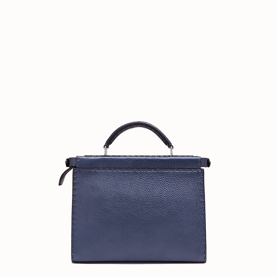 FENDI MINI PEEKABOO FIT - Sac en cuir bleu - view 3 detail