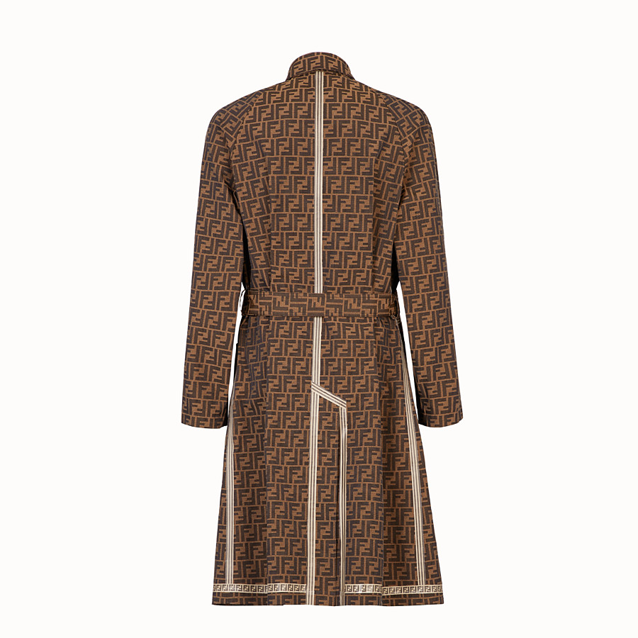 FENDI TRENCH COAT - Brown fabric trench coat - view 2 detail