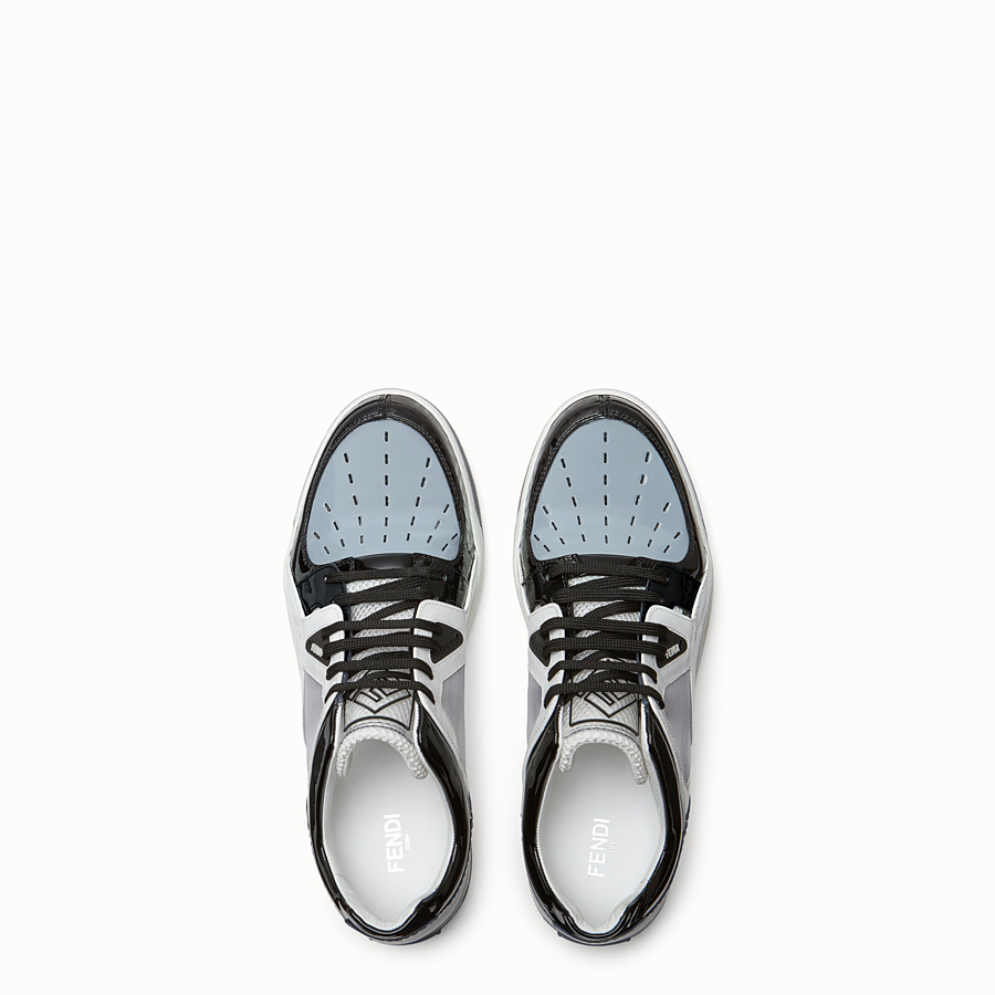 FENDI SNEAKERS - Multicolor patent leather low top - view 4 detail