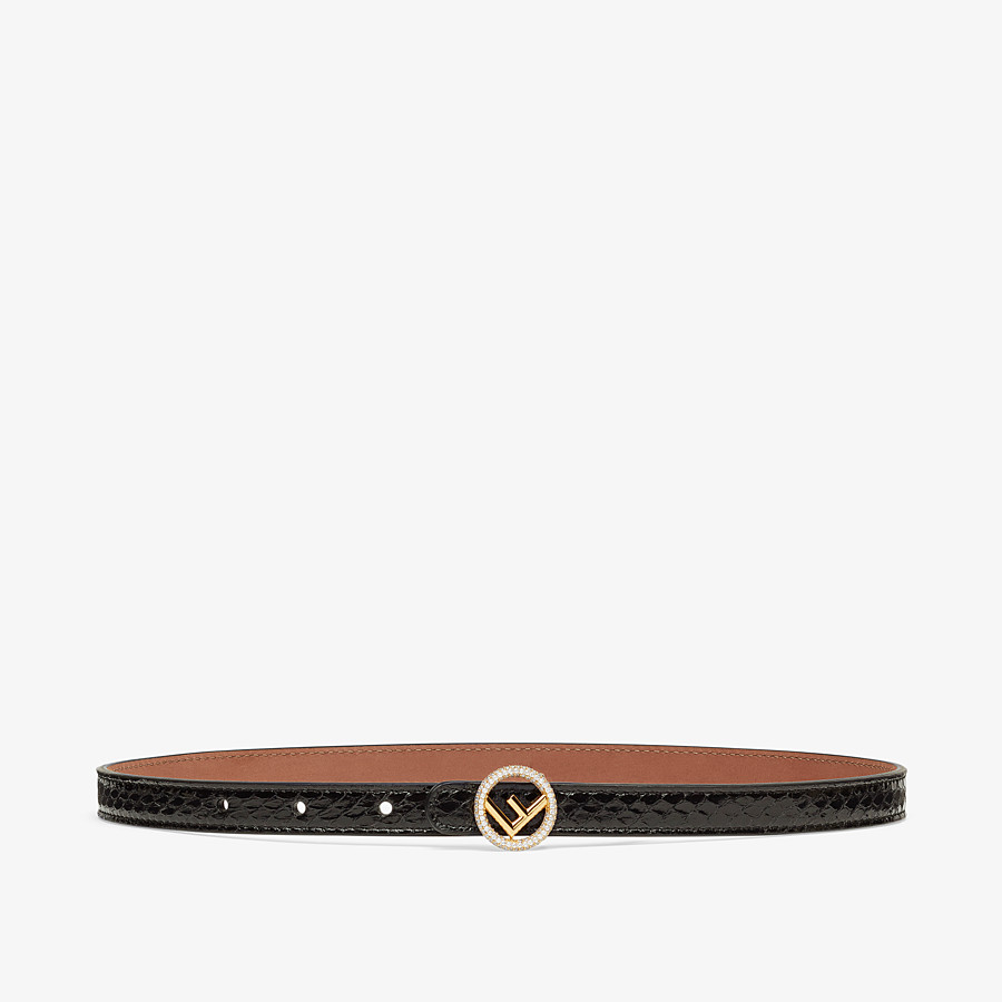 FENDI BELT - Black elaphe belt - view 1 detail