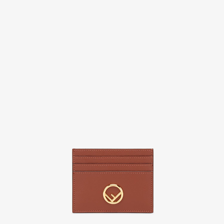 FENDI PORTACARTE - Porta carte piatto in pelle marrone - vista 1 dettaglio