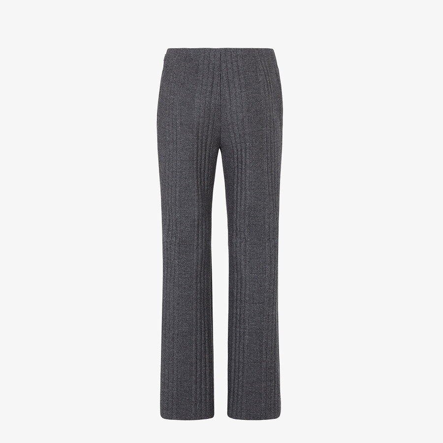 FENDI TROUSERS - Grey cashmere and flannel trousers - view 2 detail
