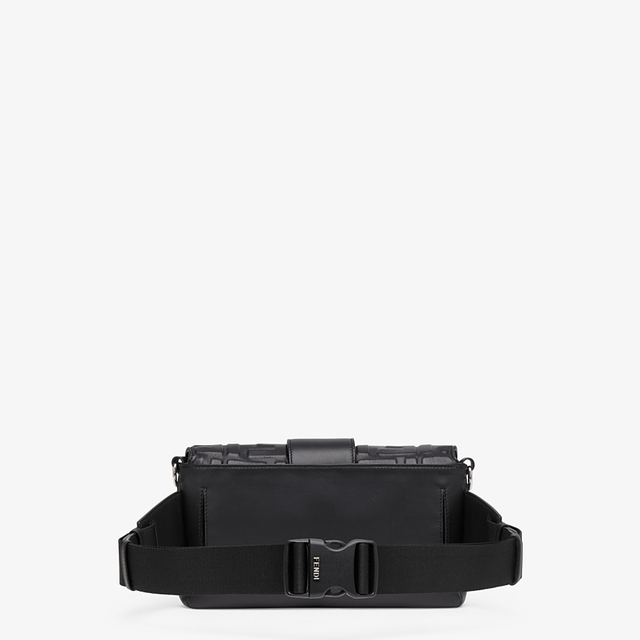 FENDI BAGUETTE - Black nappa leather bag - view 3 detail