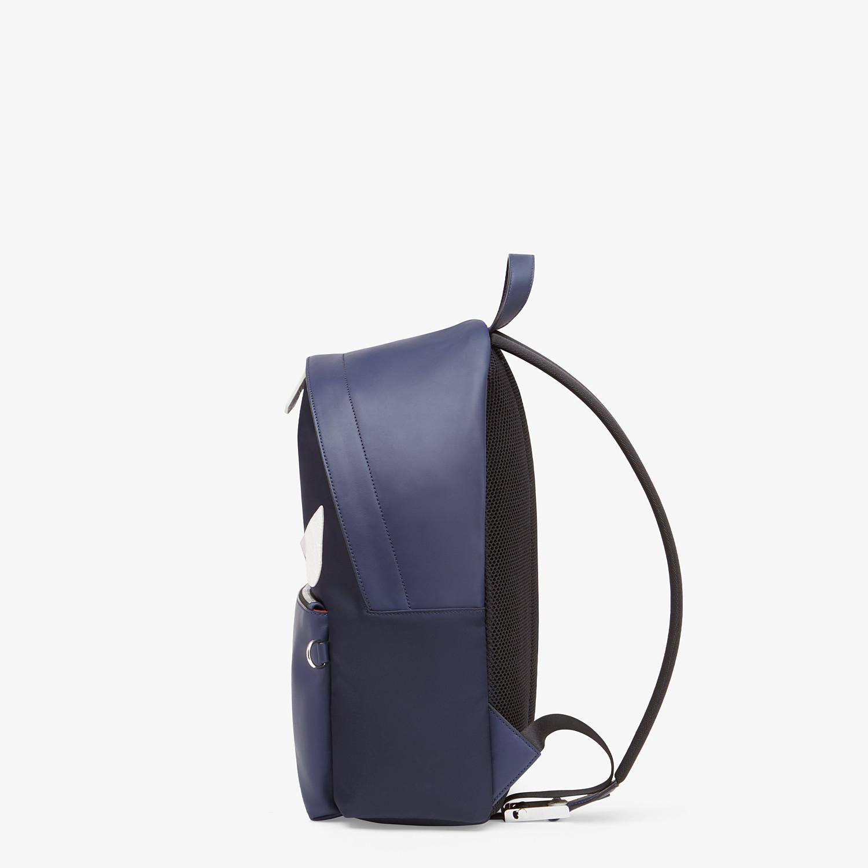 FENDI ZAINO - Zaino in nylon e pelle blu - vista 2 dettaglio