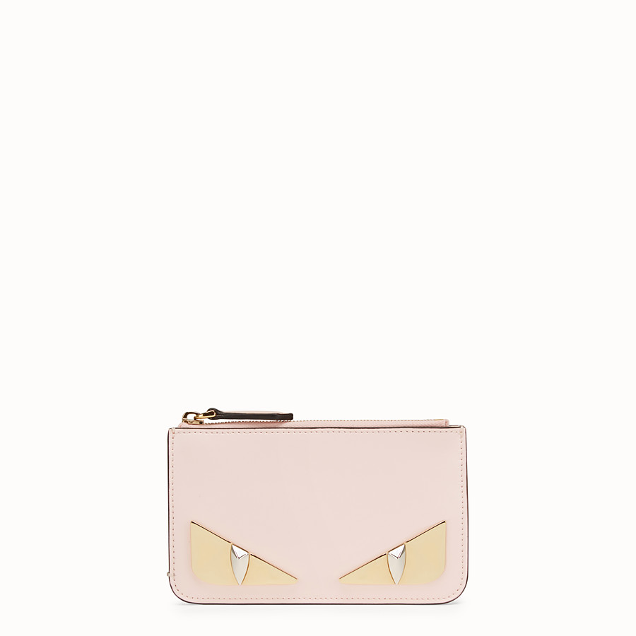 5d24bafbd604 Pink leather pouch - KEY RING POUCH
