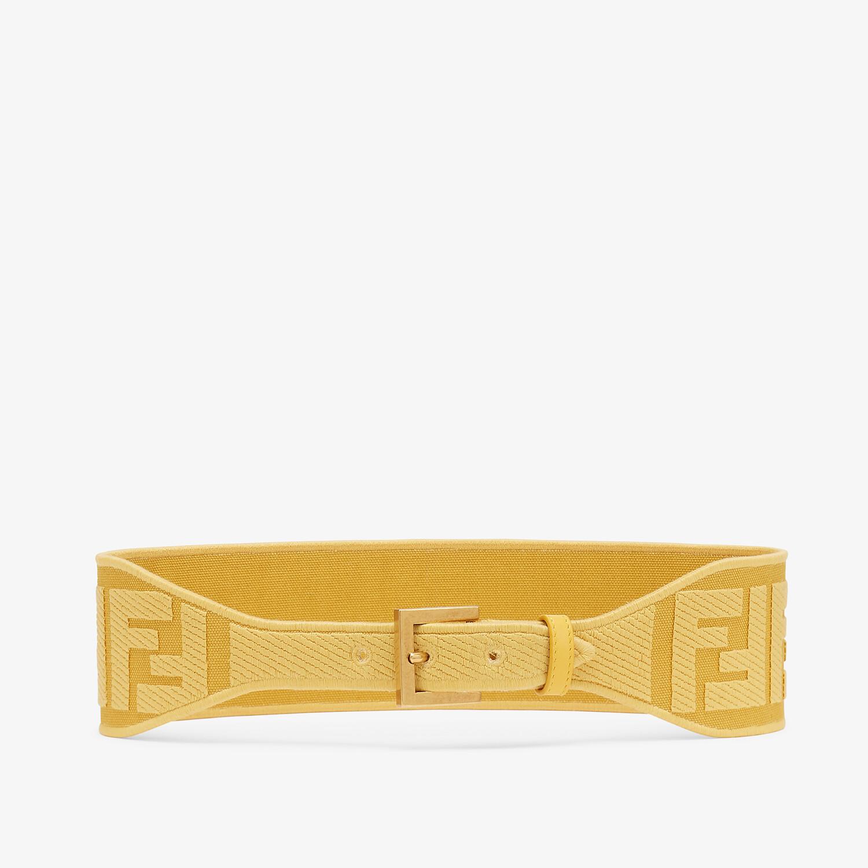 FENDI BELT - Yellow canvas belt - view 1 detail