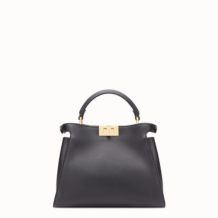 FENDI PEEKABOO ICONIC ESSENTIALLY - Black leather bag - view 4 detail
