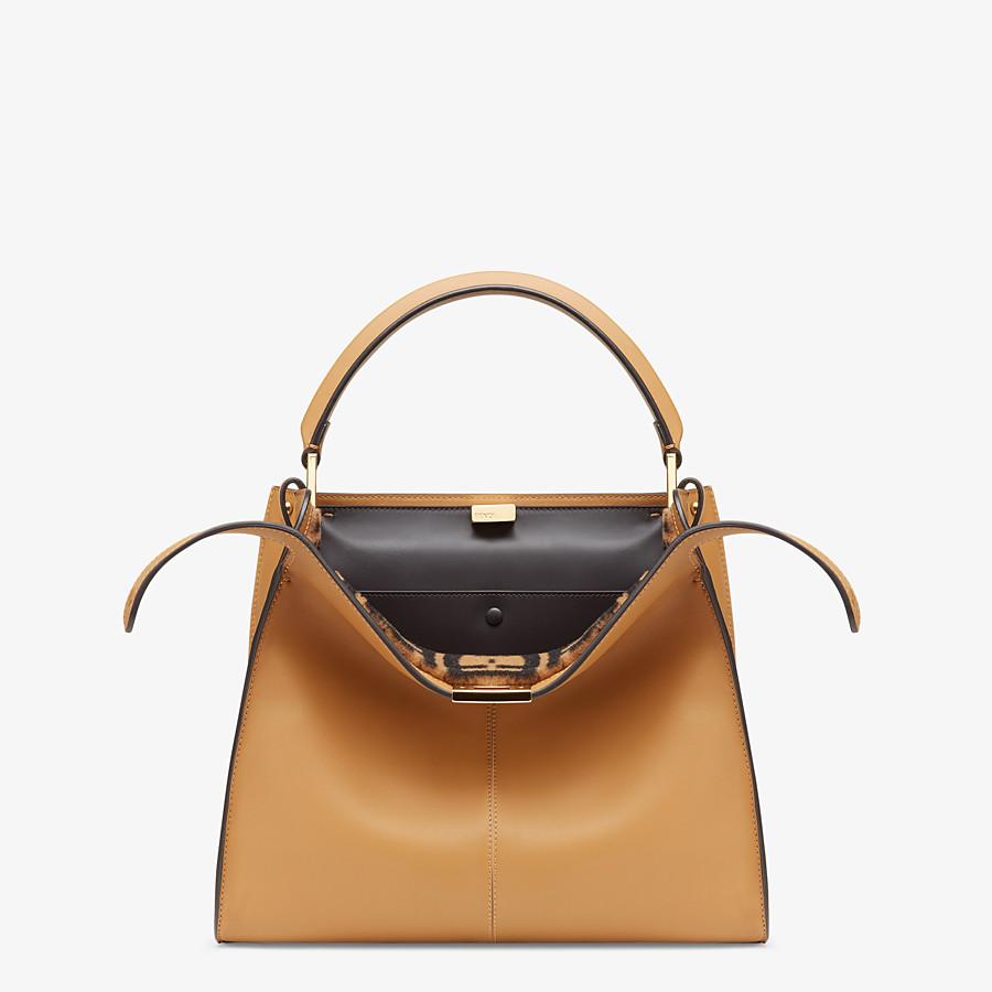 FENDI PEEKABOO X-LITE MEDIUM - Beige leather bag - view 1 detail