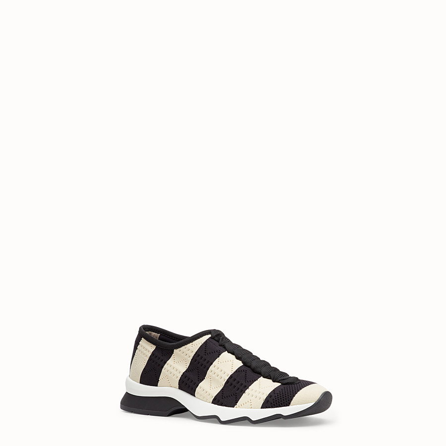 FENDI SNEAKERS - Two-tone fabric sneakers - view 2 detail