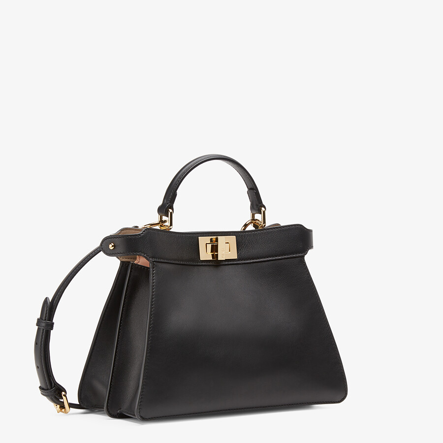FENDI PEEKABOO ISEEU SMALL - Black leather bag - view 3 detail