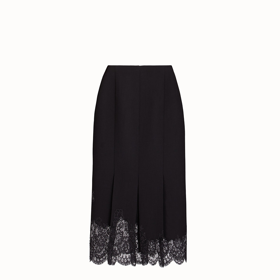 FENDI SKIRT - Black wool skirt - view 2 detail