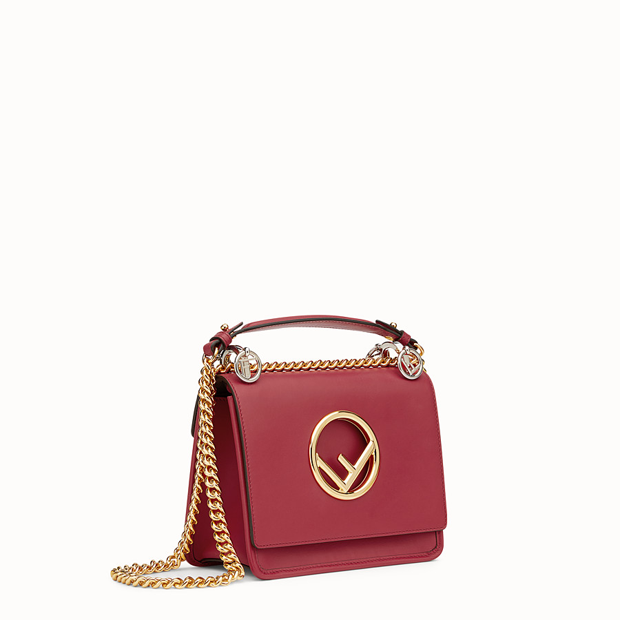 FENDI KAN I F SMALL - Red leather mini-bag - view 2 detail