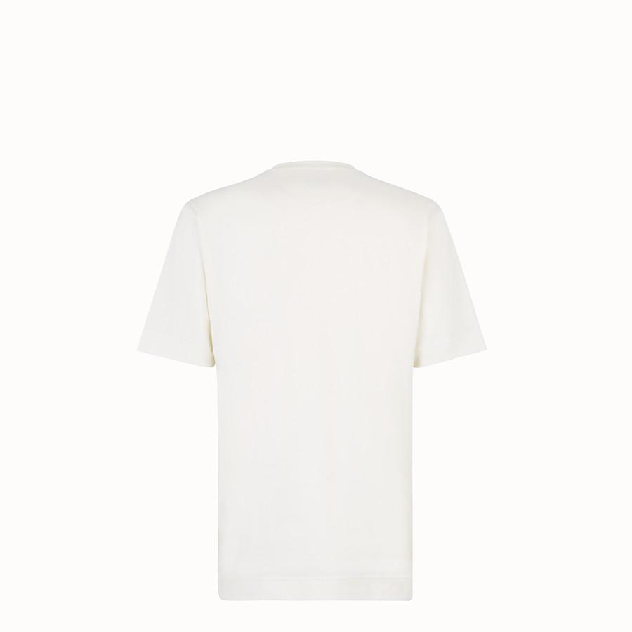 FENDI Tシャツ - ホワイトコットンジャージー Tシャツ - view 2 detail