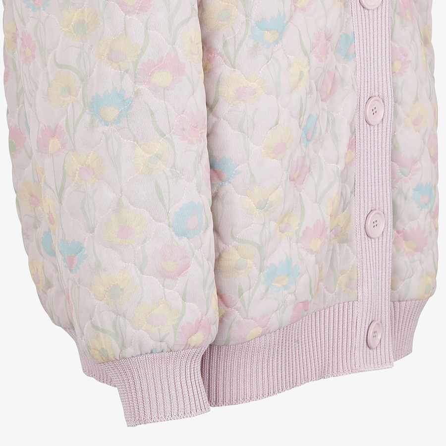 FENDI JACKET - Pink quilted fabric blouson jacket - view 3 detail