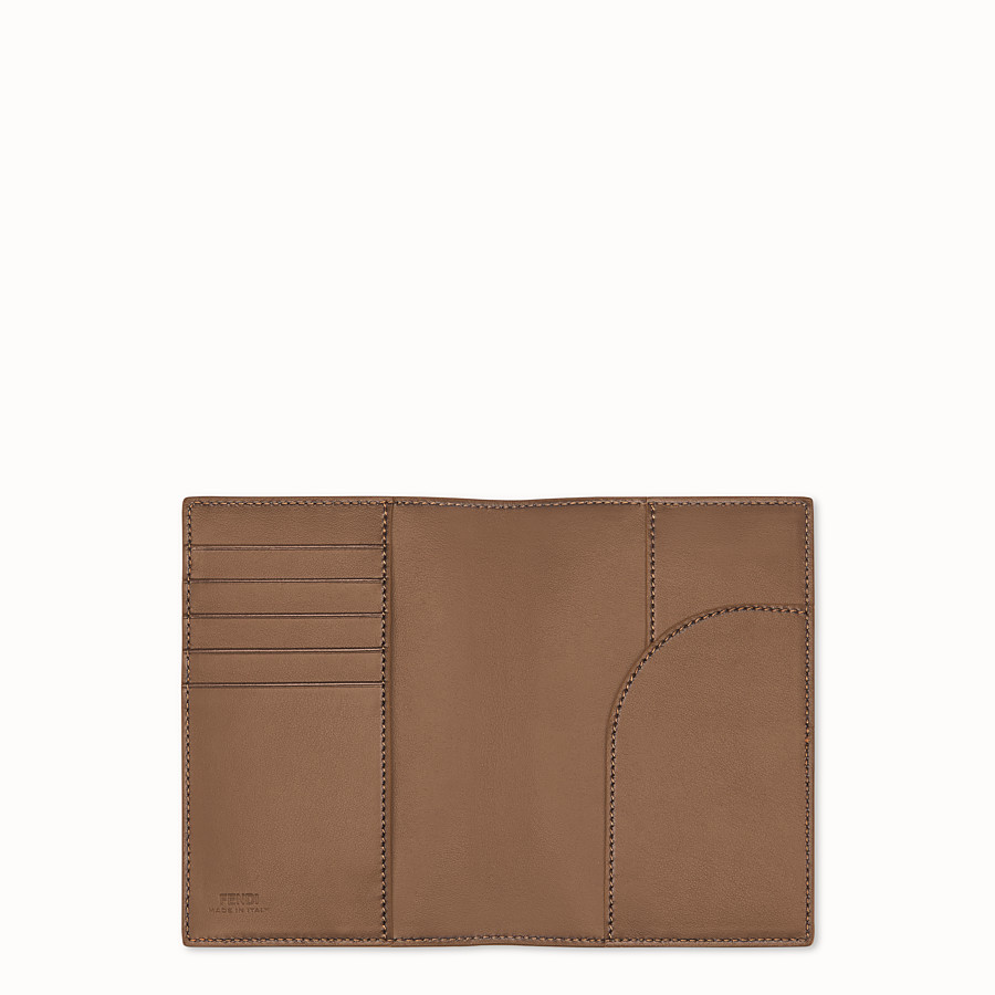 FENDI PASSPORT COVER - Brown leather passport cover - view 3 detail