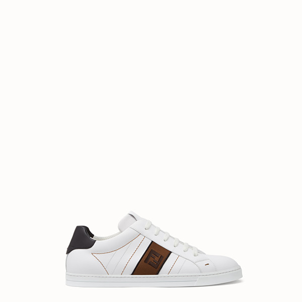 FENDI SNEAKERS - White leather low-tops - view 1 small thumbnail