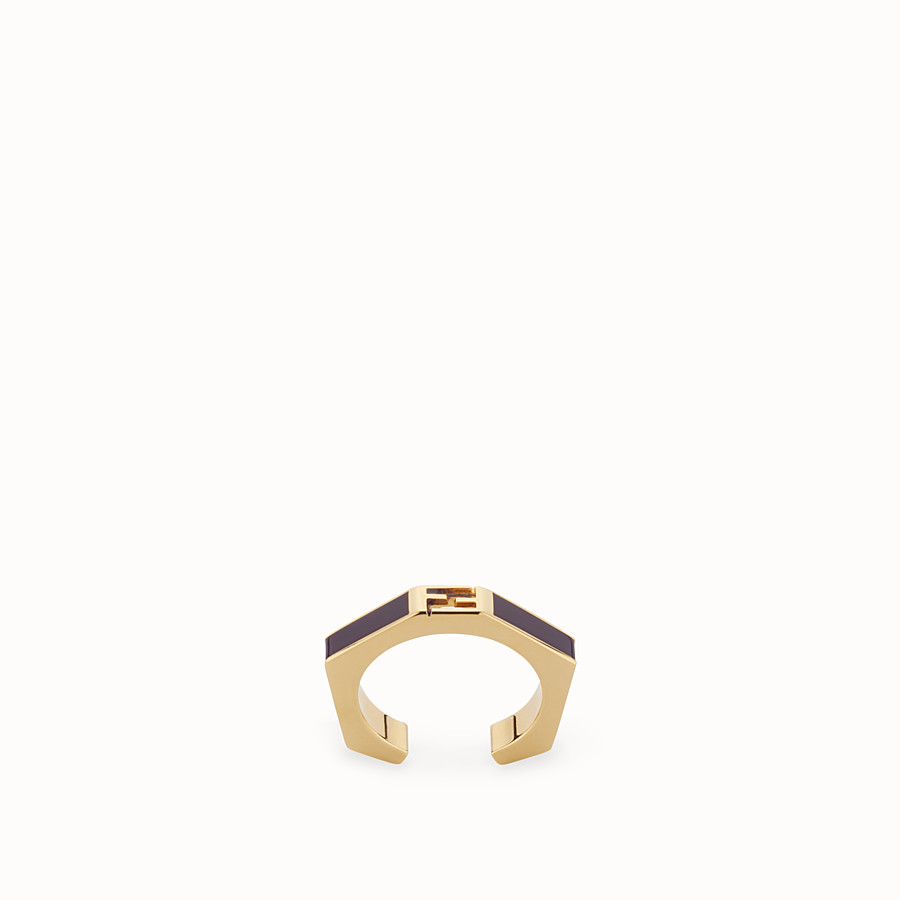 FENDI BAGUETTE RING - Polished purple Baguette ring - view 1 detail