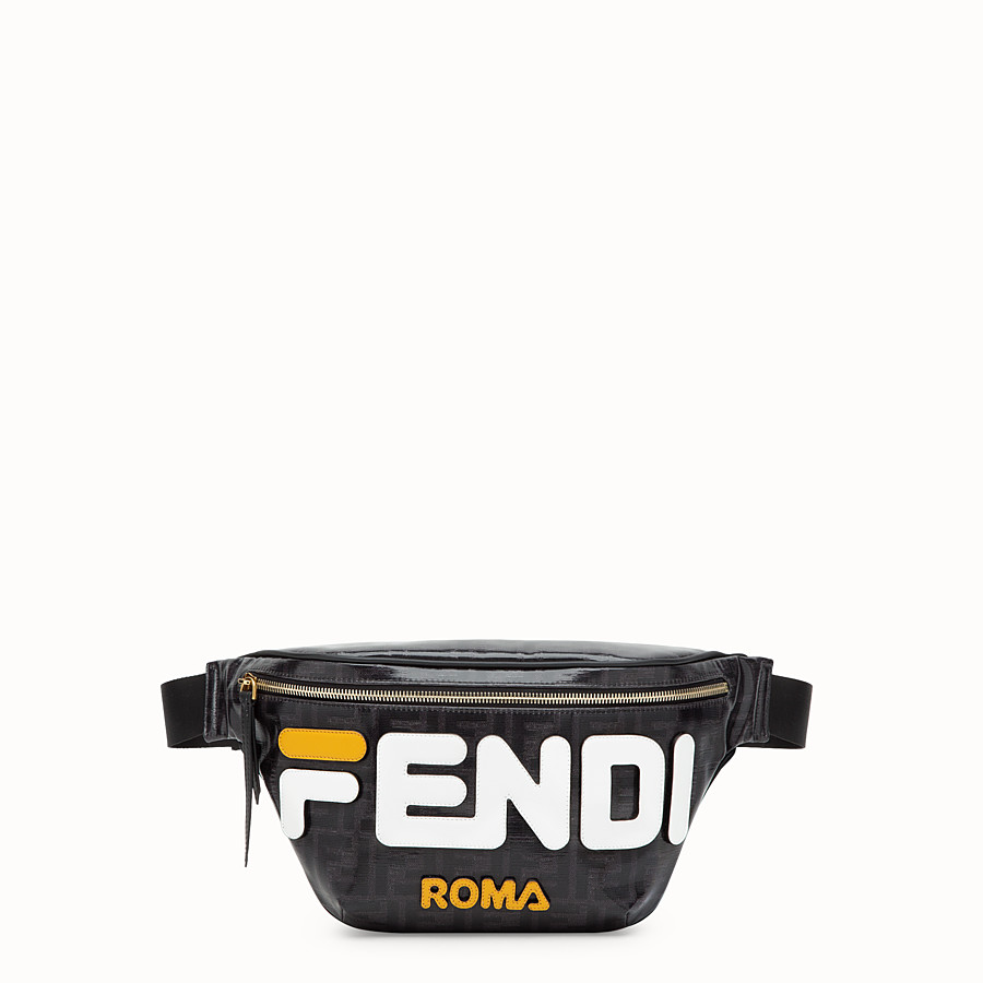 FENDI BELT BAG - Black fabric belt bag - view 1 detail