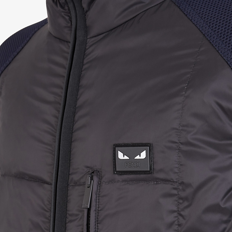 FENDI GILET - Black nylon gilet - view 3 detail
