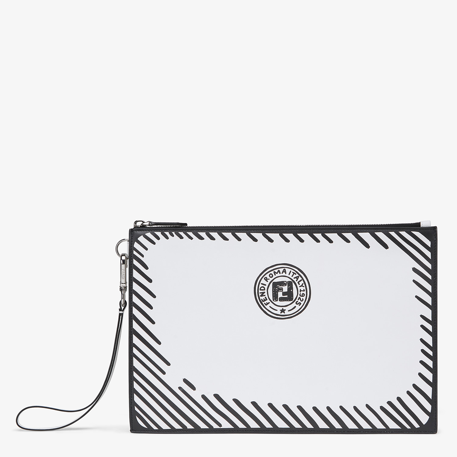 FENDI FLAT POUCH - Fendi Roma Joshua Vides leather bag - view 1 detail