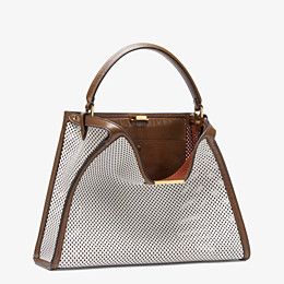 FENDI PEEKABOO X-LITE LARGE - White leather bag - view 4 thumbnail