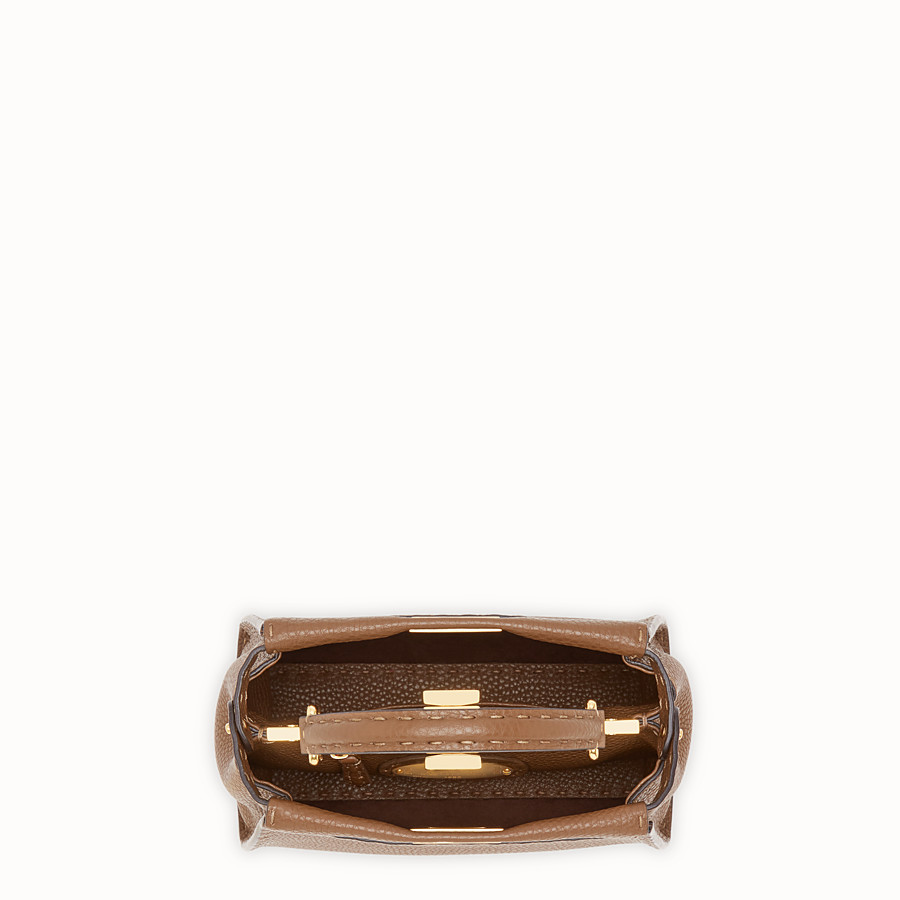 FENDI PEEKABOO MINI - Brown leather bag - view 4 detail