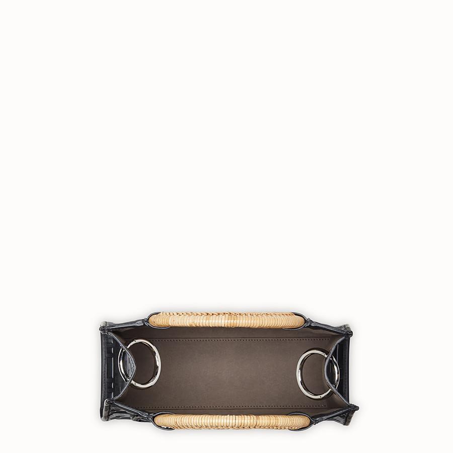 FENDI 런어웨이 쇼퍼 - 블랙 컬러의 가죽 스몰 쇼퍼 - view 4 detail