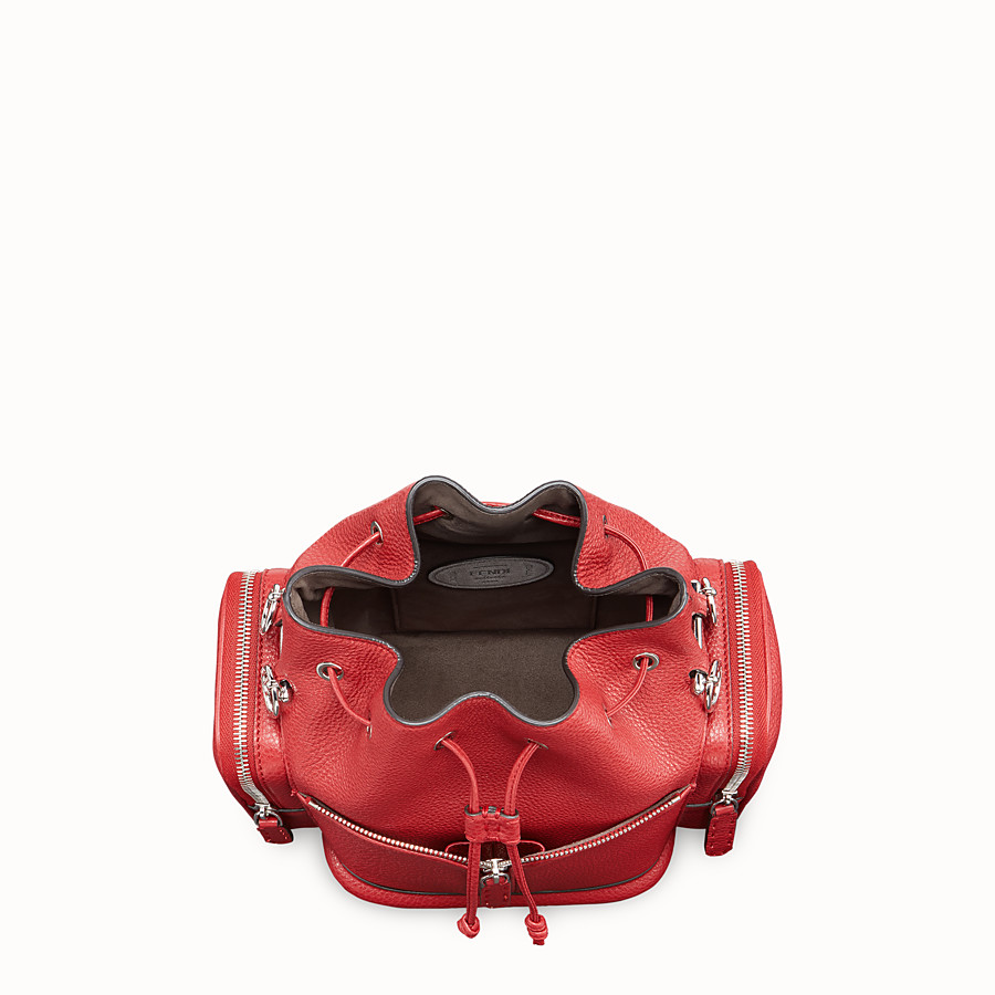 FENDI MON TRESOR - Red leather bag - view 4 detail