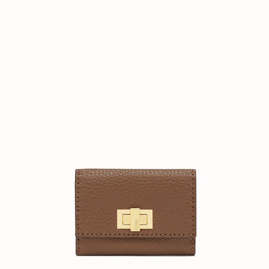 FENDI CONTINENTAL MEDIUM - Brown leather wallet - view 1 detail