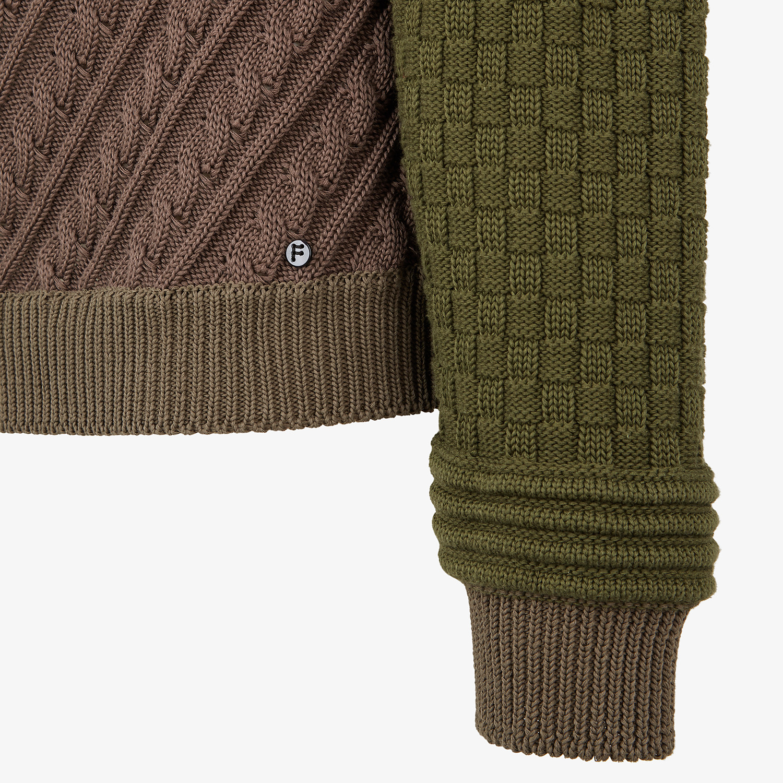 FENDI SWEATER - Multicolor cotton sweater - view 3 detail
