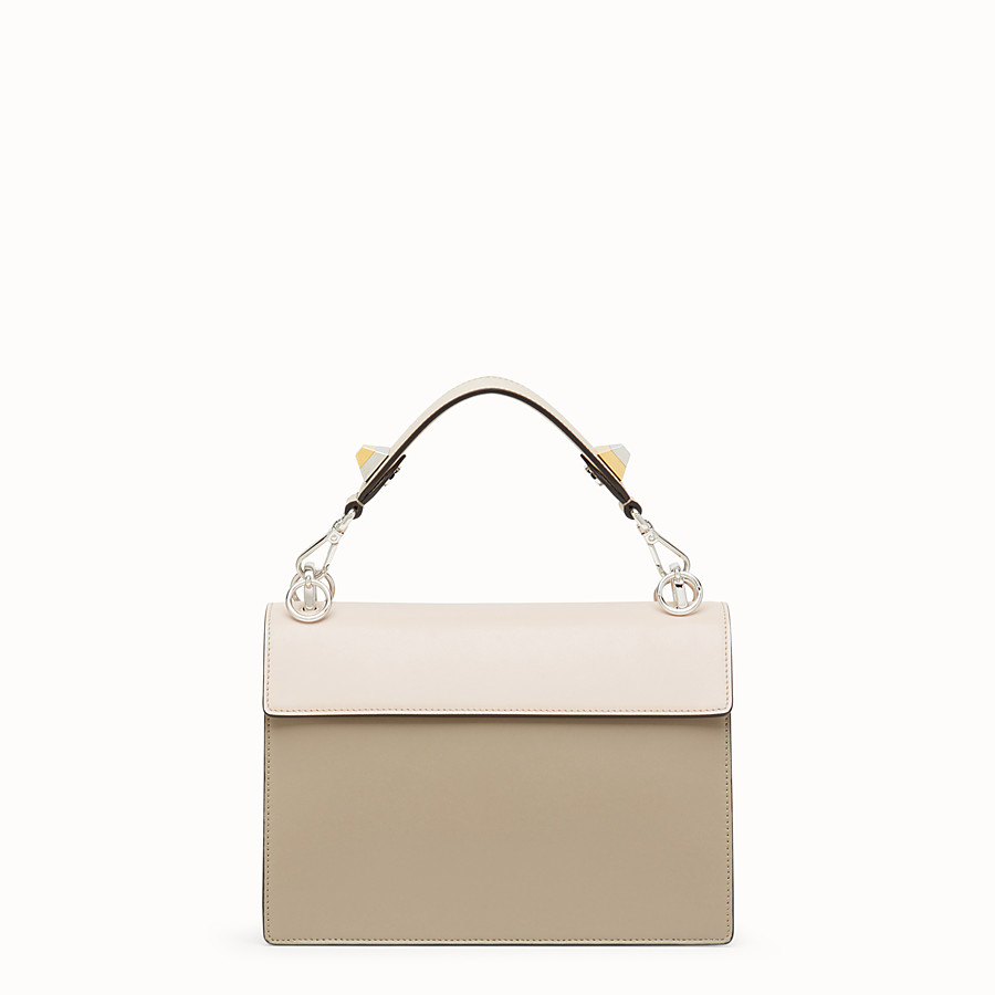 FENDI KAN I - Beige leather bag - view 3 detail