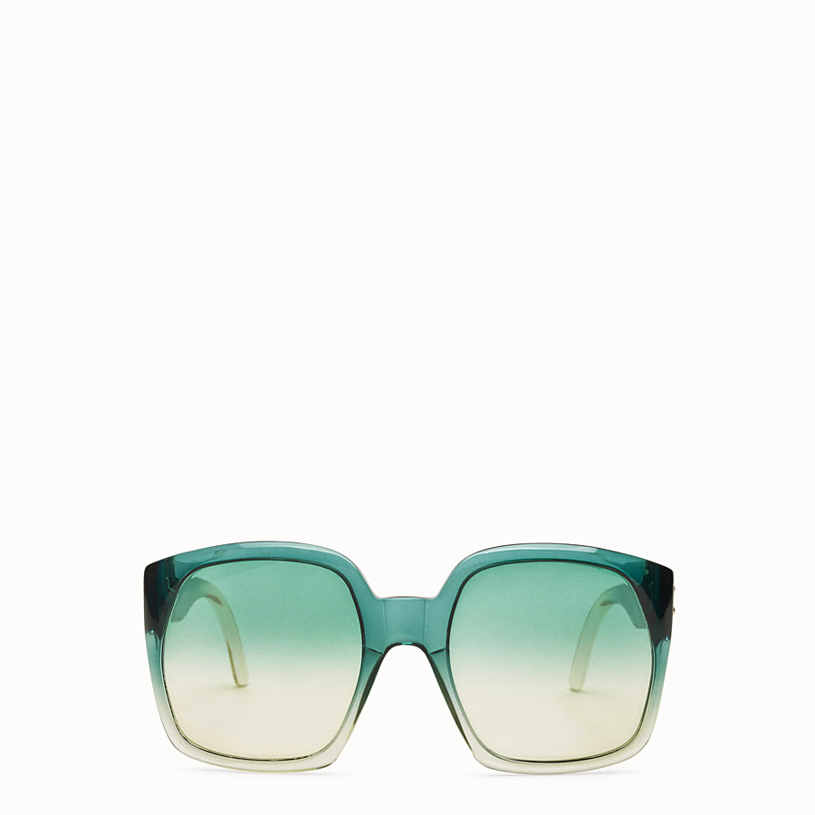 FENDI FENDI DAWN - Green gradient effect injection-moulded sunglasses - view 1 detail