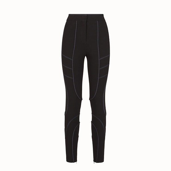 FENDI TROUSERS - Black tech fabric leggings - view 1 small thumbnail