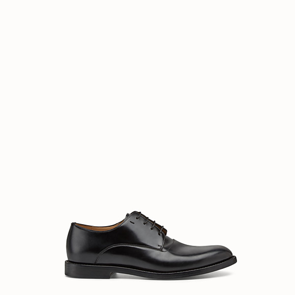 FENDI LACE-UPS - Black leather lace-ups - view 1 small thumbnail