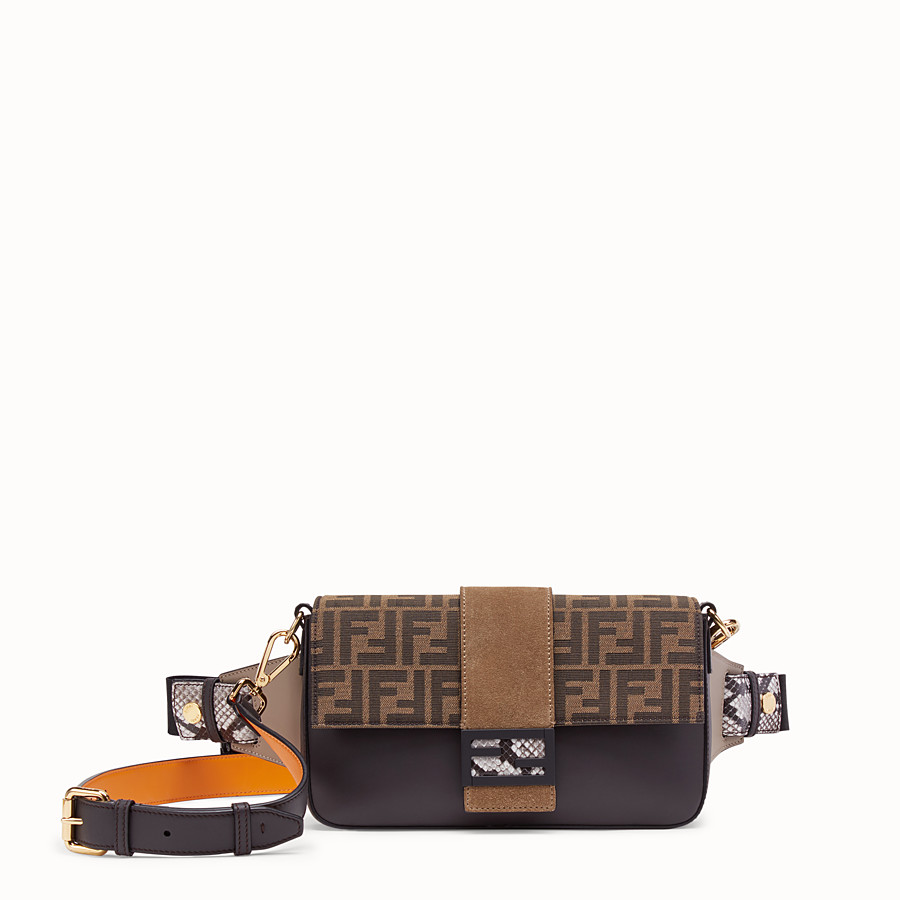 FENDI BAGUETTE - Brown calfskin bag - view 1 detail