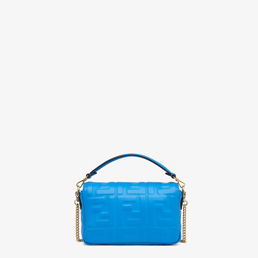 FENDI BAGUETTE - Blue leather minibag - view 3 detail