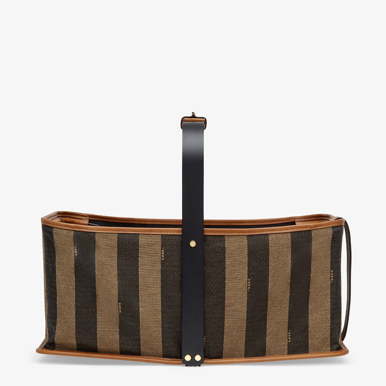 FENDI BASKET BAG - Brown fabric basket - view 1 detail