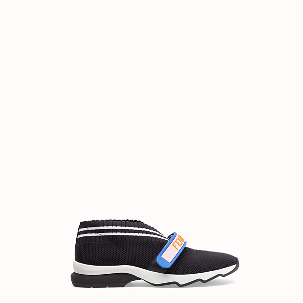 FENDI SNEAKERS - Black fabric sneakers - view 1 small thumbnail