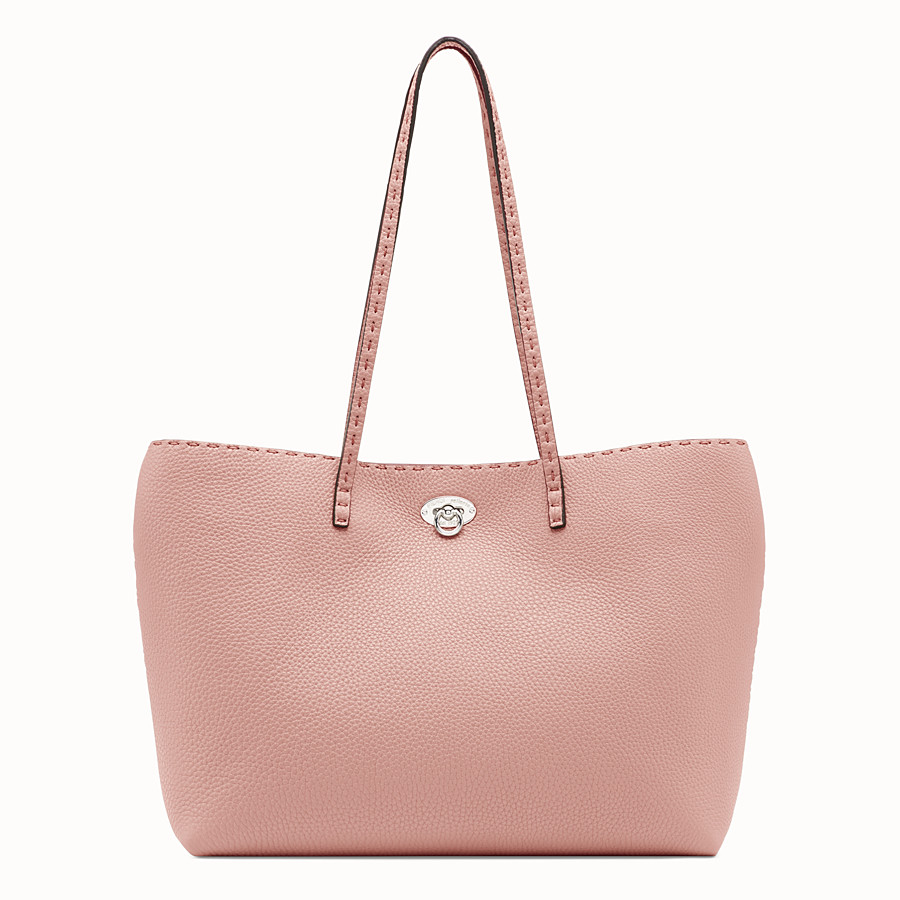 FENDI CARLA BAG SMALL - Pink leather bag - view 1 detail