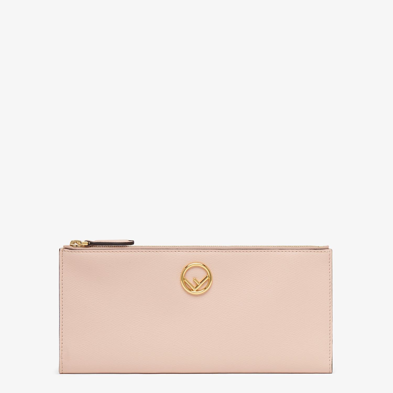 FENDI BIFOLD - Pink leather wallet - view 1 detail