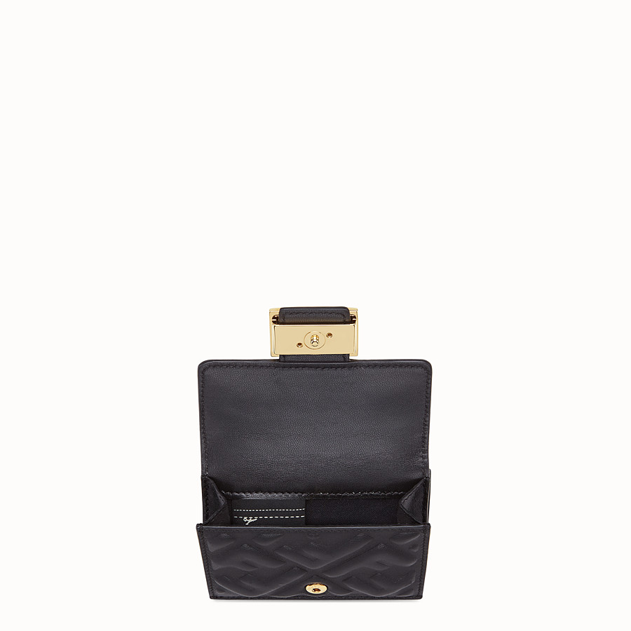 FENDI MICRO TRIFOLD - Black nappa leather wallet - view 3 detail