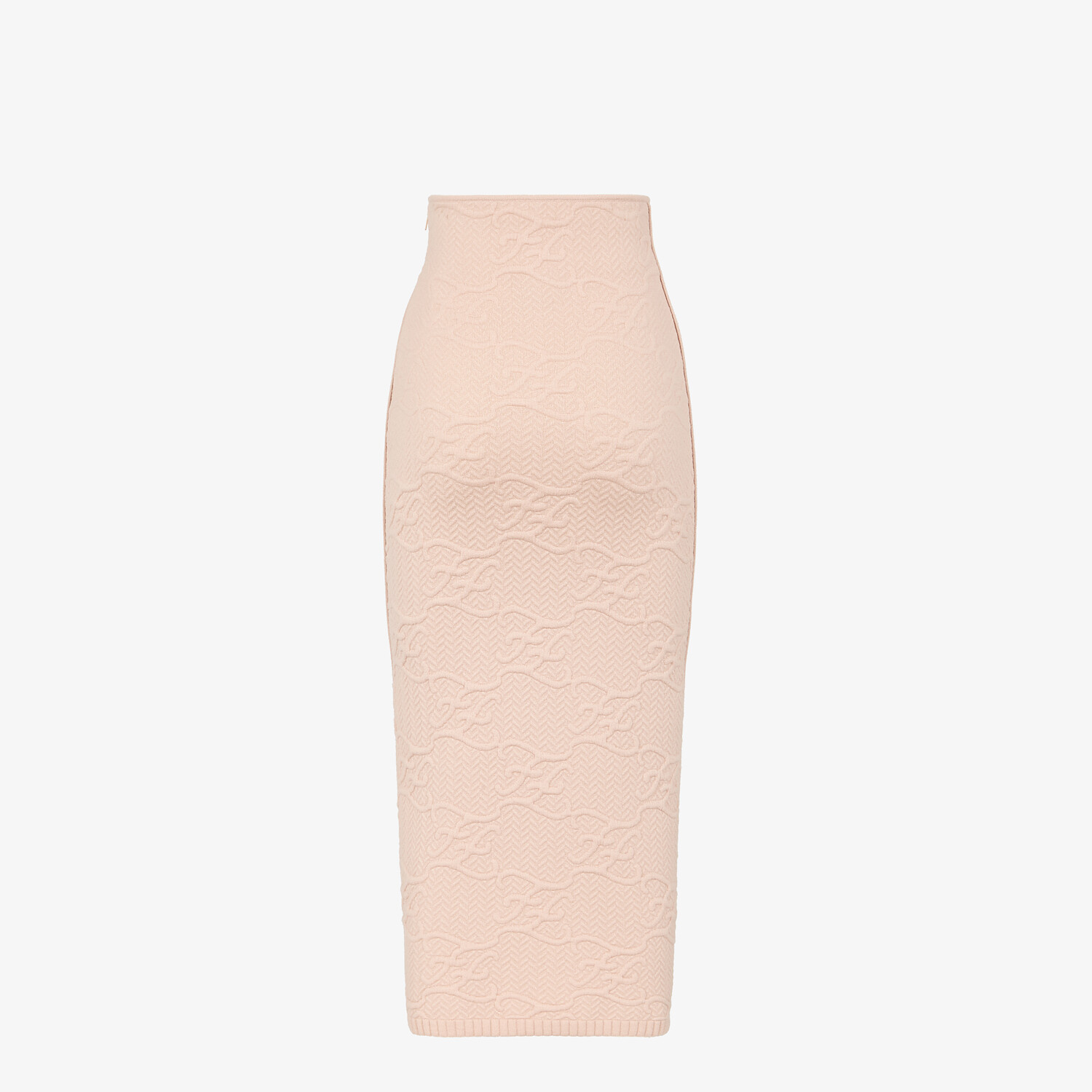 FENDI SKIRT - Pink wool and cashmere skirt - view 2 detail