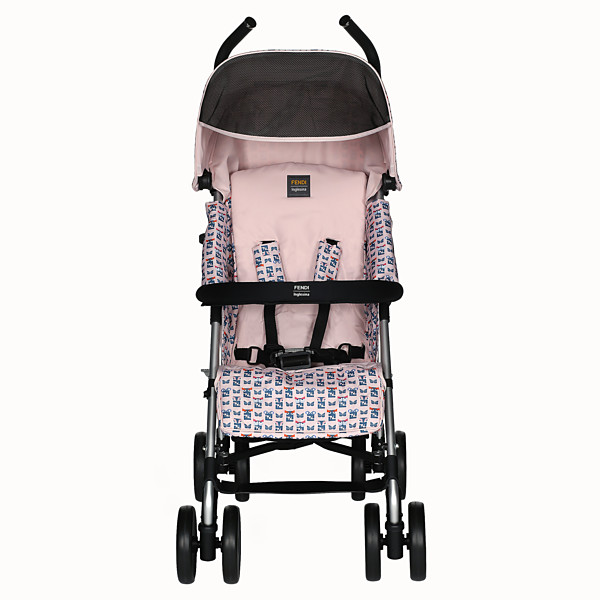 FENDI STROLLER - Pink stroller in fire-resistant material with monster pattern - view 1 small thumbnail
