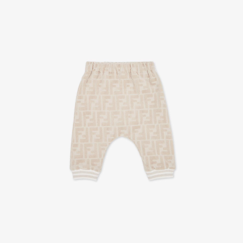 FENDI BABY PANTS - Beige chenille baby pants - view 1 detail