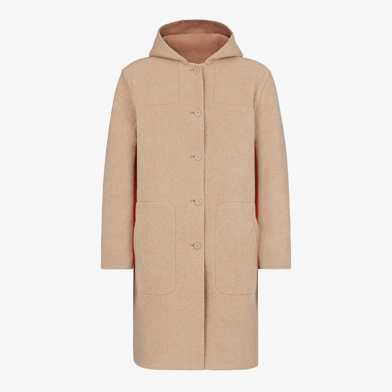FENDI COAT - Beige suede coat - view 4 detail