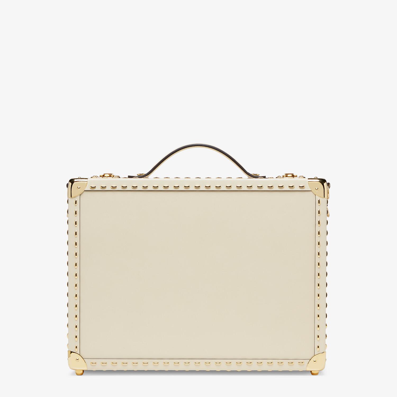 FENDI TRAVEL CASE MEDIUM - White leather suitcase - view 3 detail
